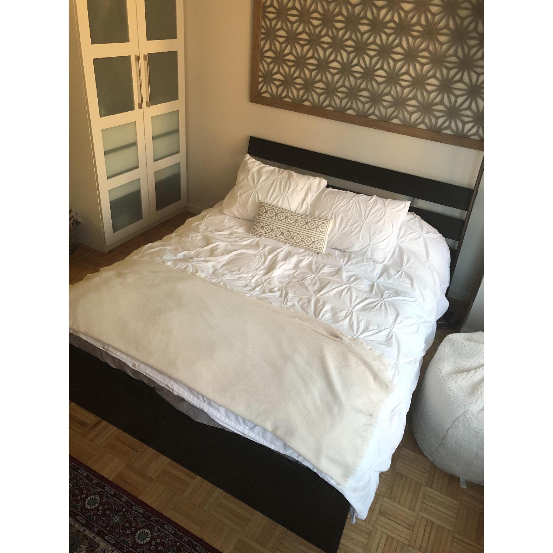 Ikea Hopen Queen Size Black Platform Bed - image-3