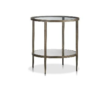 Crate & Barrel Clairemont Round Side Table