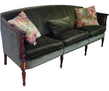 Green Upholstered Sofa