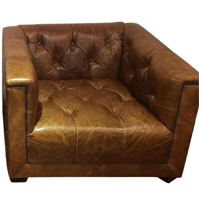 Restoration Hardware Savoy Leather Chairs