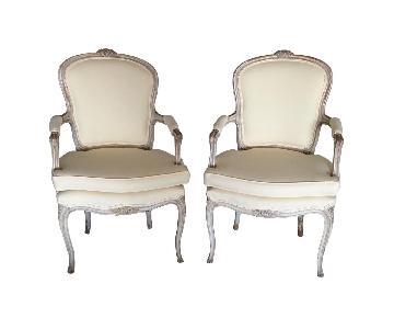 Antique Louis XV Fauteuils Chairs