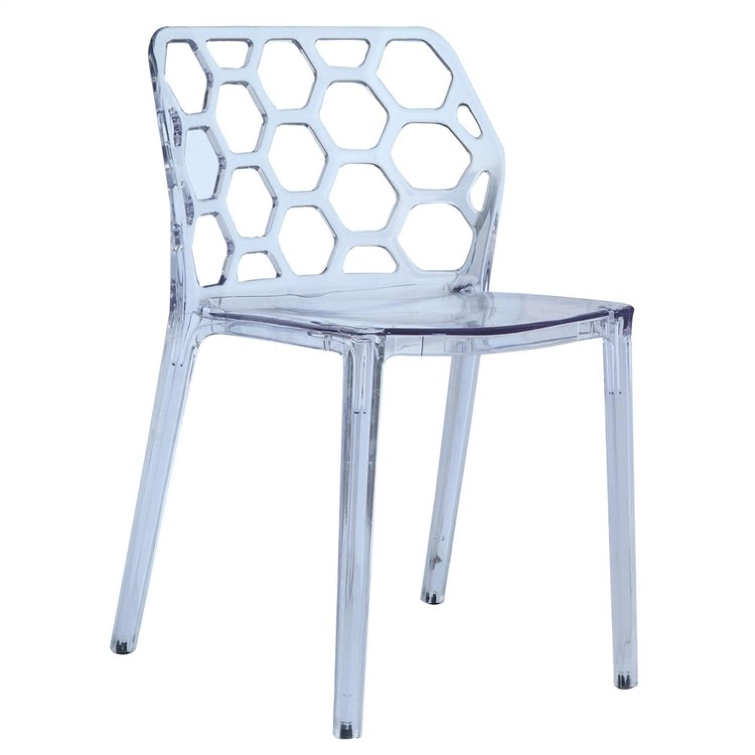 Modern Indoor/Outdoor Scratch-Resistant Dining Chair w/ Hone