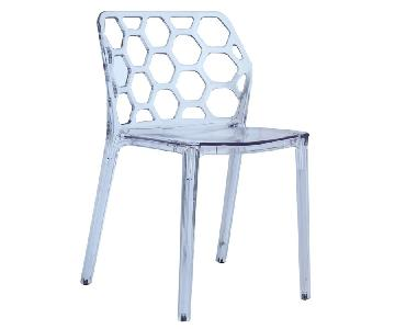Modern Indoor/Outdoor Scratch-Resistant Dining Chair w/ Hone