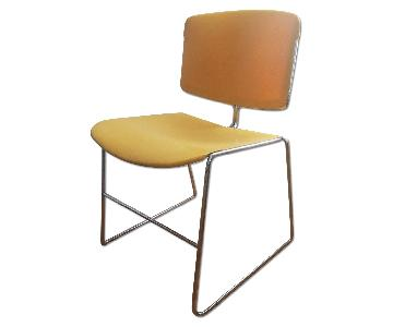 Steelcase Stacking Chairs in Yellow