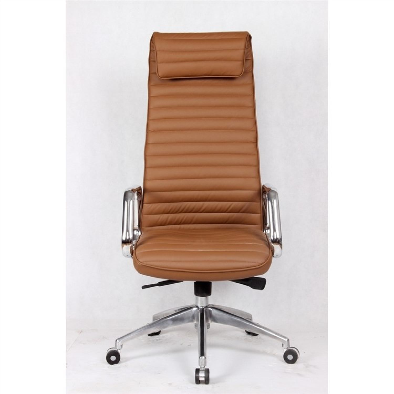 Steel Frame High Back Office Chair w/ Padded Seat & Back Uph-0