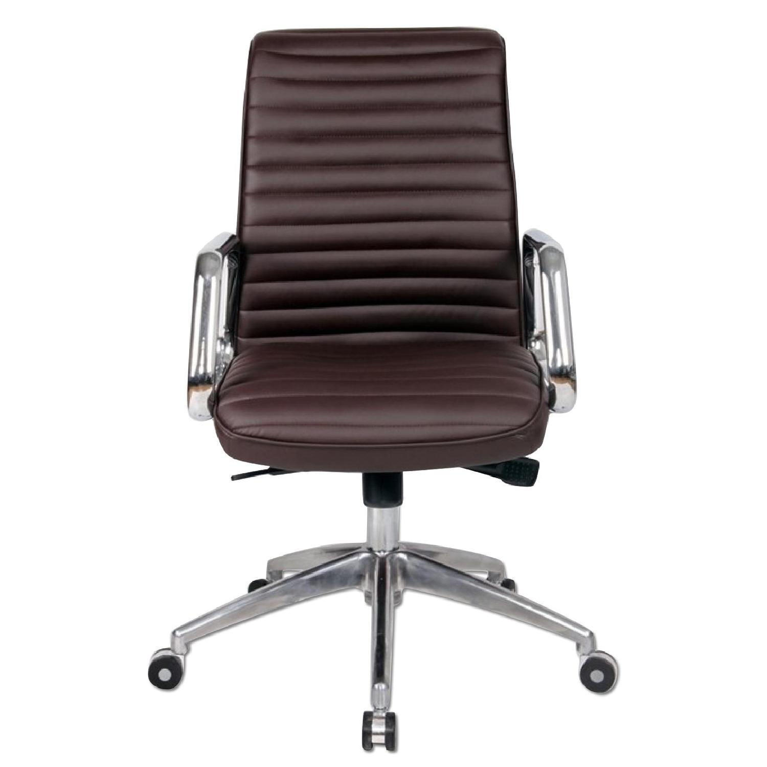 Modern Steel Frame Office Chair w/ Padded Seat & Back Uphols
