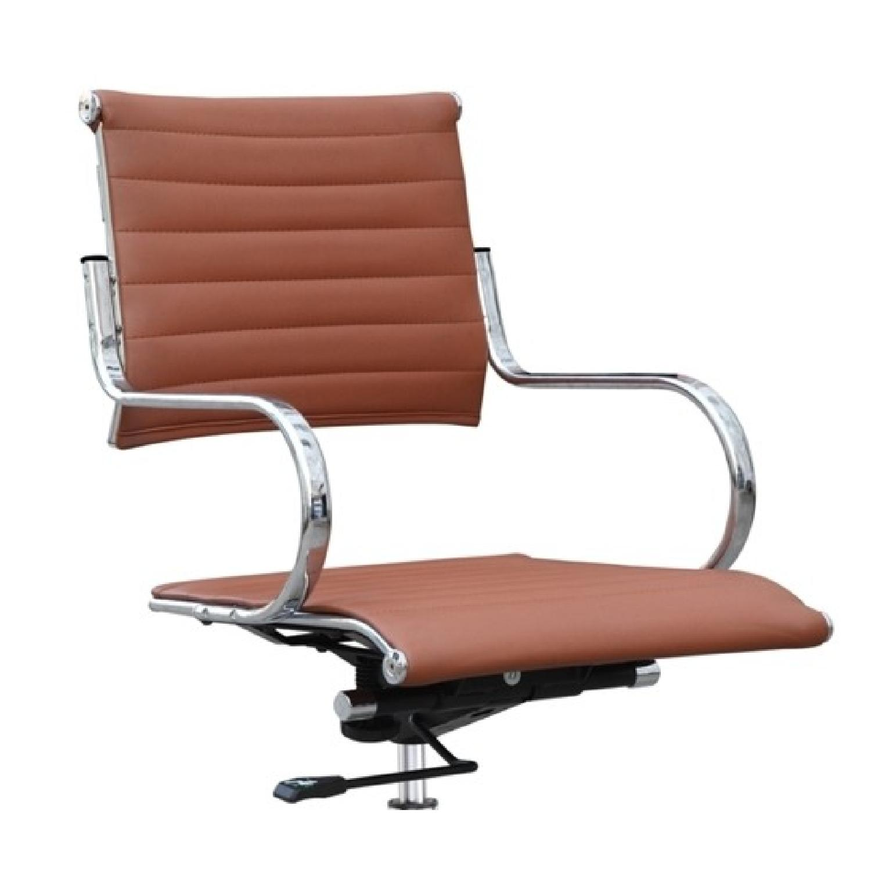 Modern Mid Back Office Chair w/ Stainless Steel Frame & Ligh-0