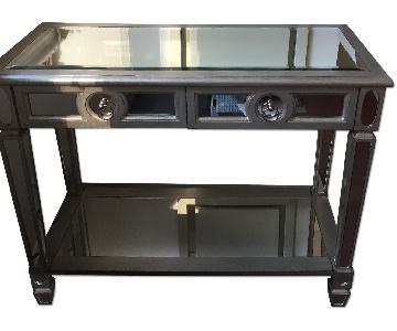 Monarch Furniture Silver Mirrored Console Table