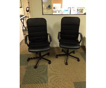 Ikea Fingal Swivel & Adjustable Office Chairs