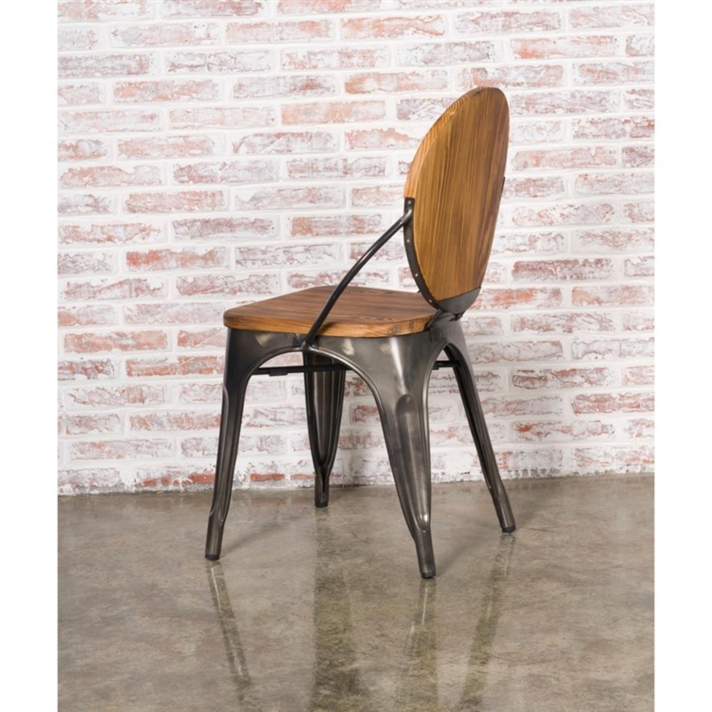 galvanized steel frame chair w
