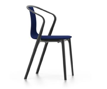 Vitra Belleville Armchair in Blue Fabric