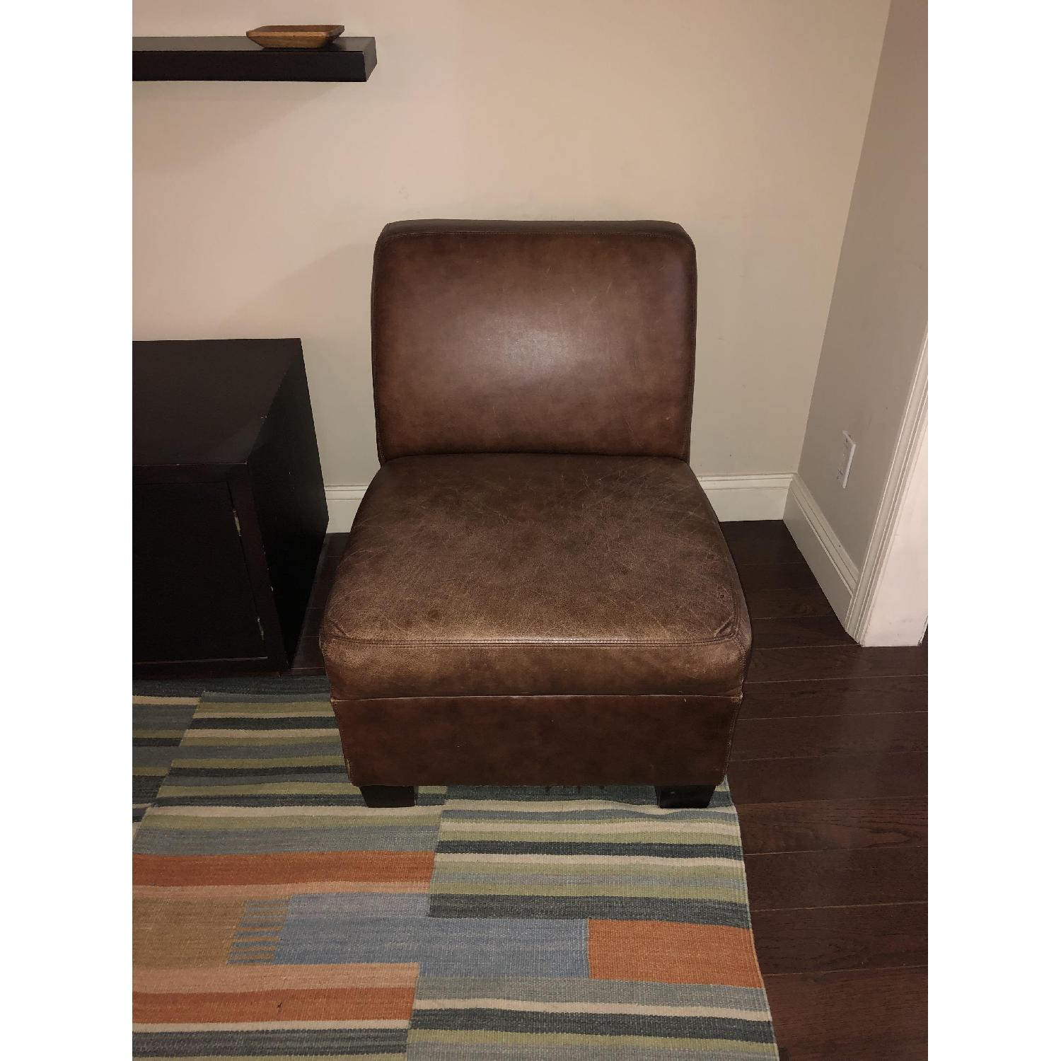 Pottery Barn Leather Club Chair-6