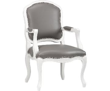 CB2 Grey & White Accent Chair
