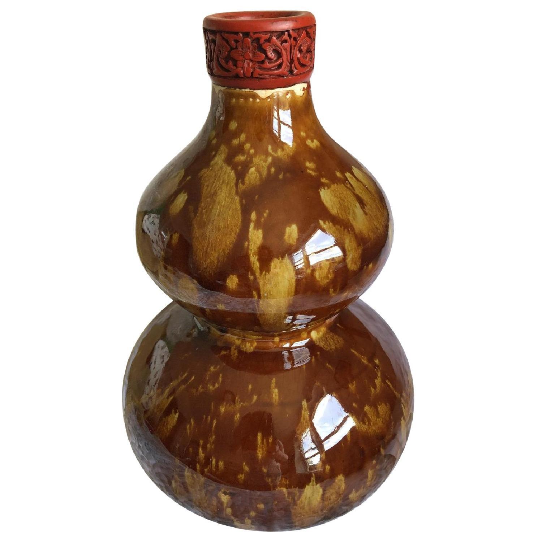 Vintage circa 1880 Chinese Double Gourd Vase - image-0