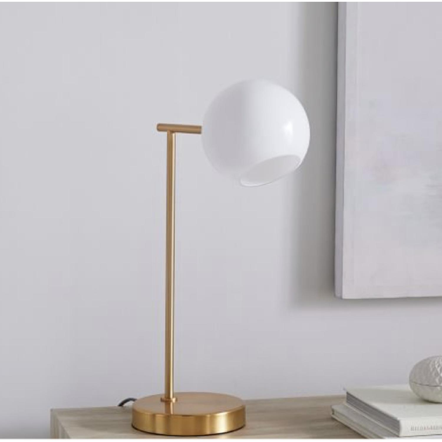 West Elm Staggered Glass Table Lamp w/ USB-0