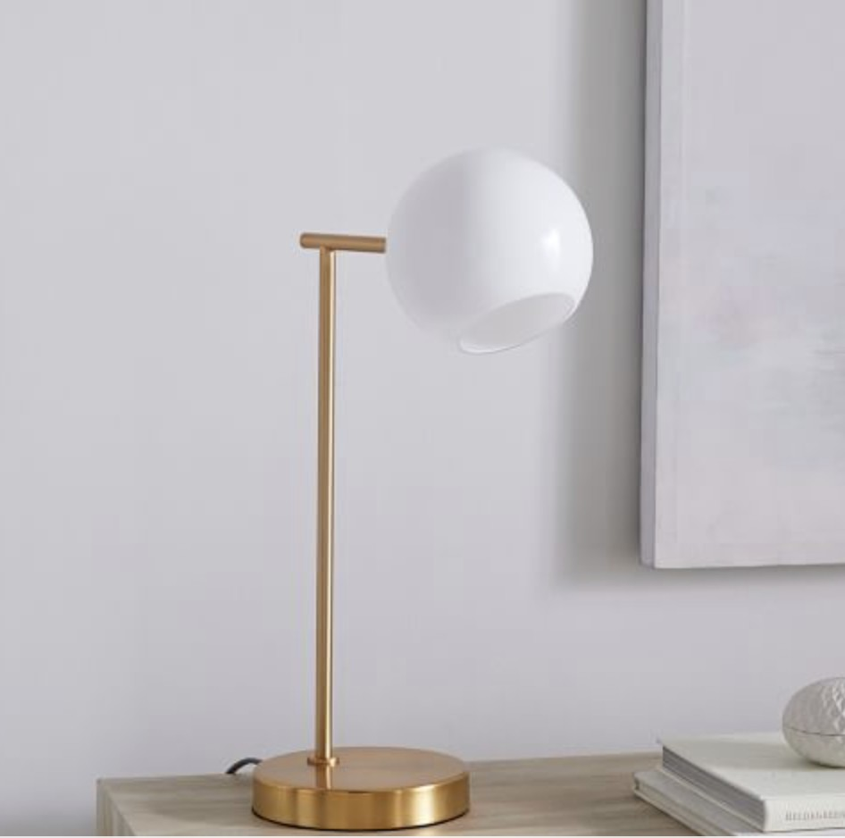 West Elm Staggered Glass Table Lamp w/ USB