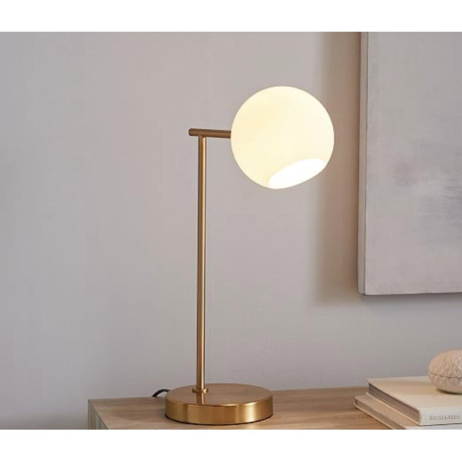 West Elm Staggered Glass Table Lamp w/ USB-1