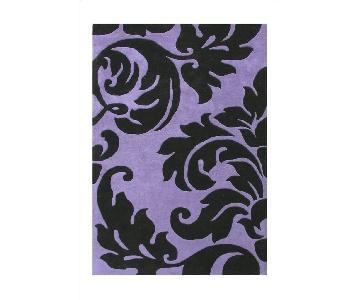 Alliyah Handmade Sabrina Purple Wool Rug