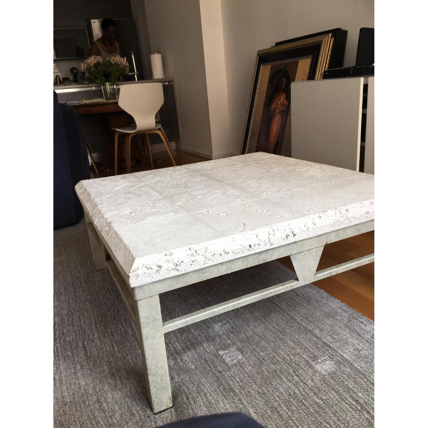 Vintage 80s White Coffee Table - image-2