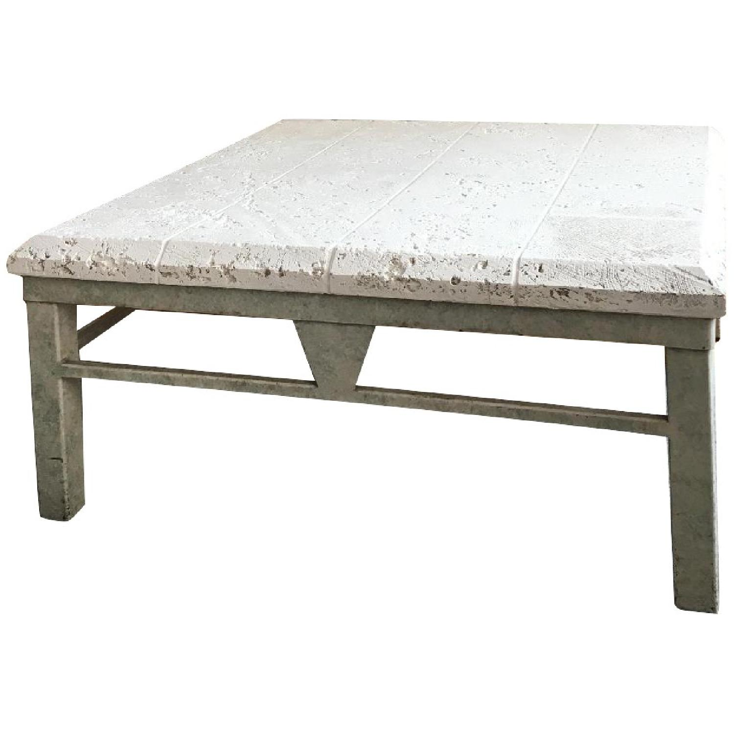 Vintage 80s White Coffee Table - image-0