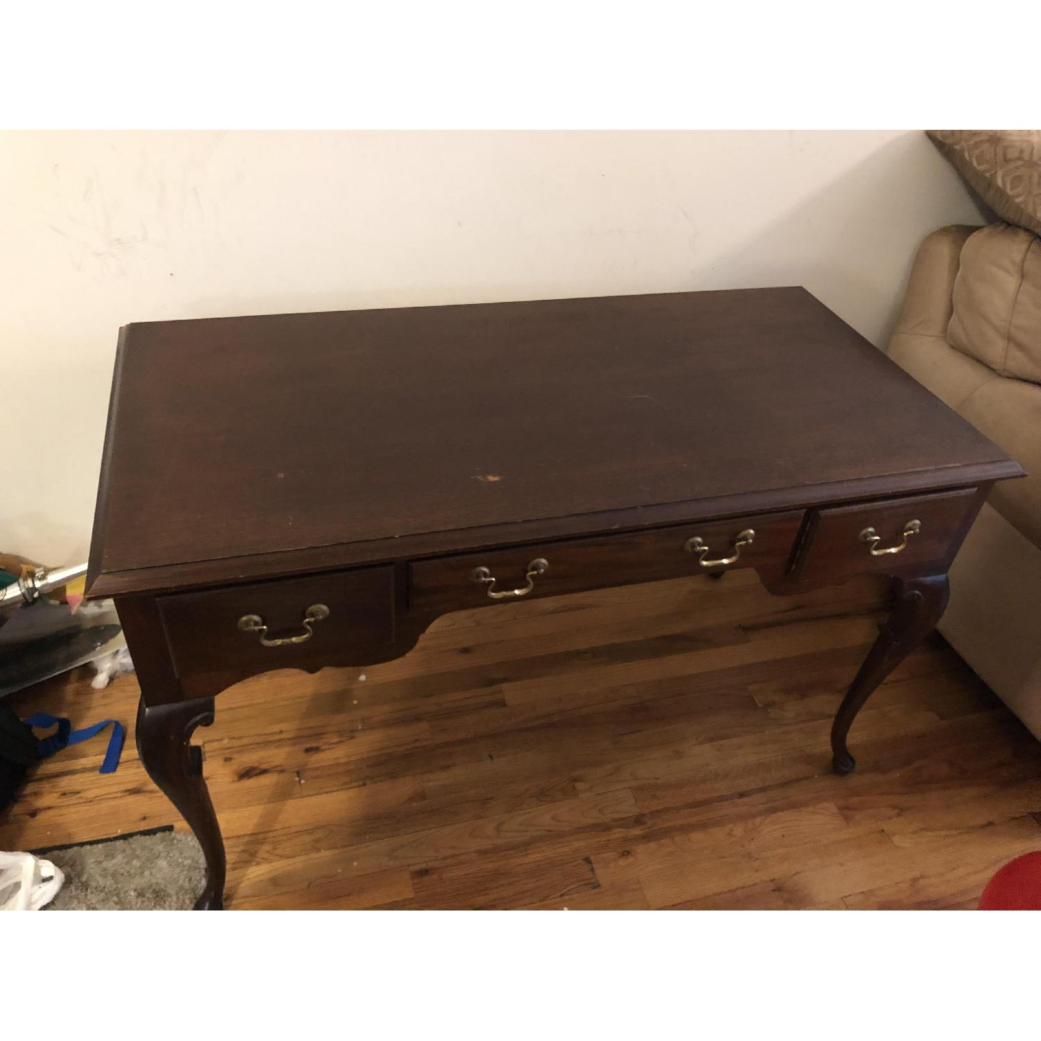 Antique Mahogany Wood Desk - image-0