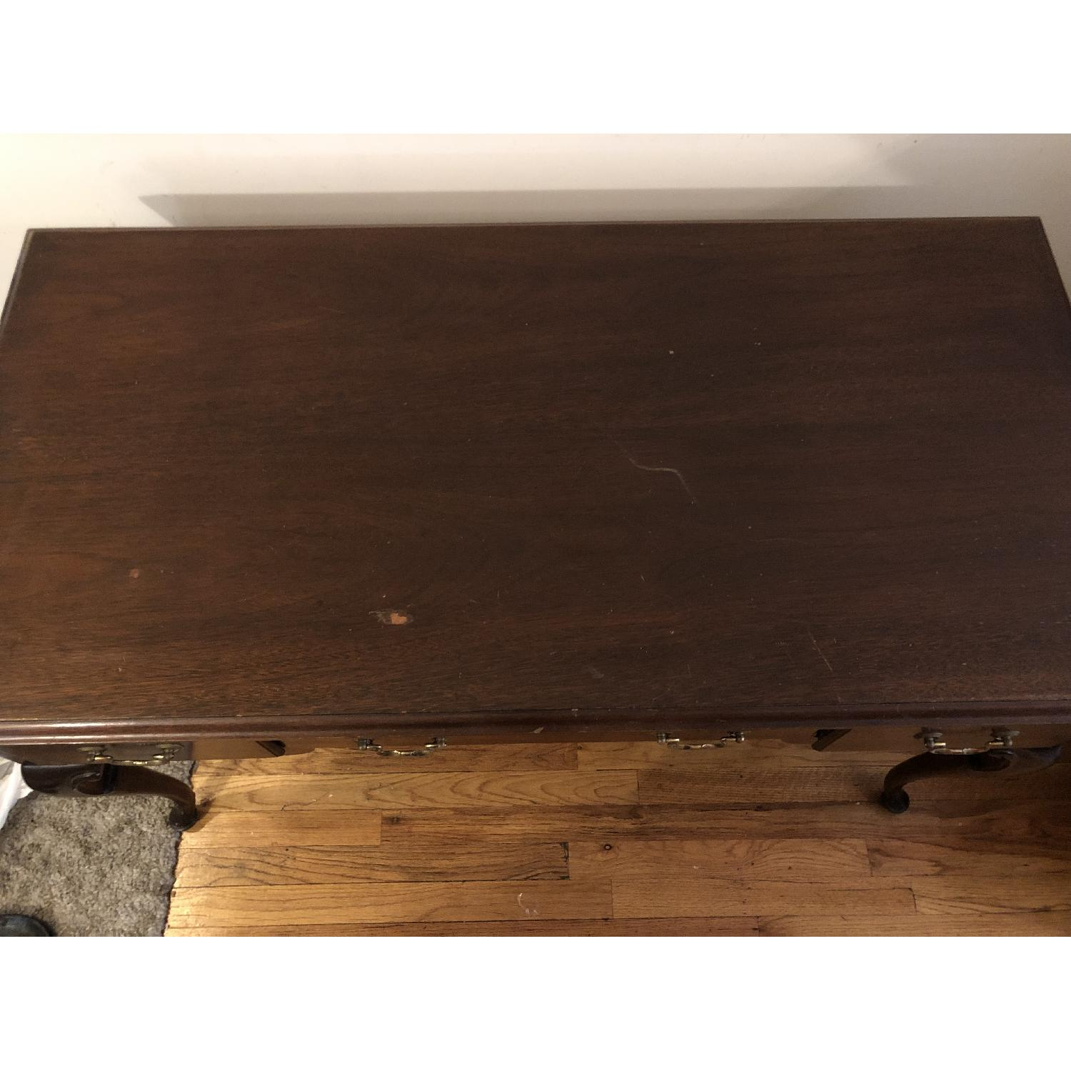 Antique Mahogany Wood Desk - image-3