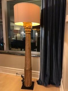 Restoration Hardware Handcarved Corinthian Column Floor Lamp