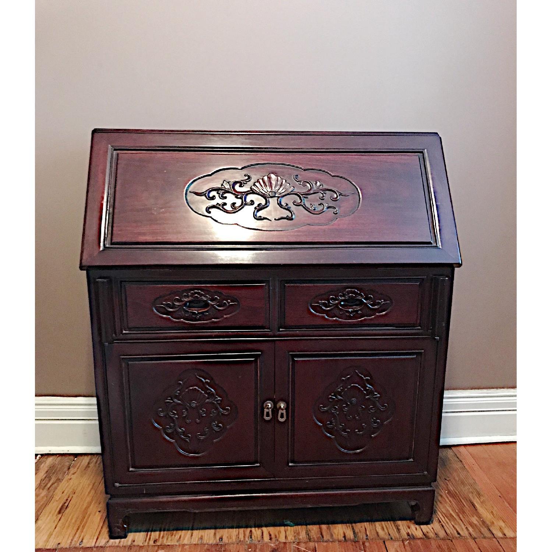 Vintage Rosewood Secretary Desk