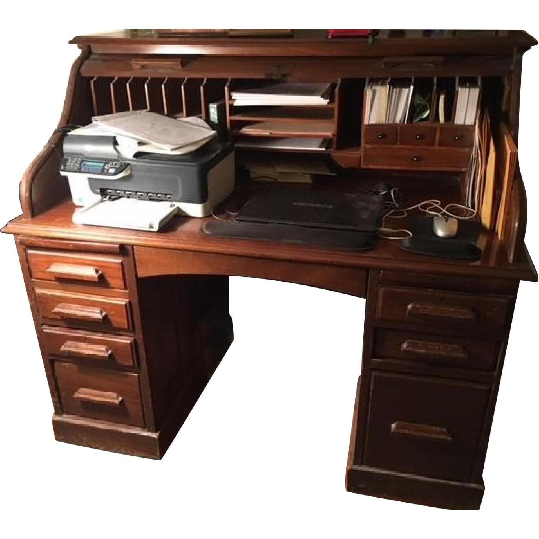 Vintage 1920's Roll Top Desk