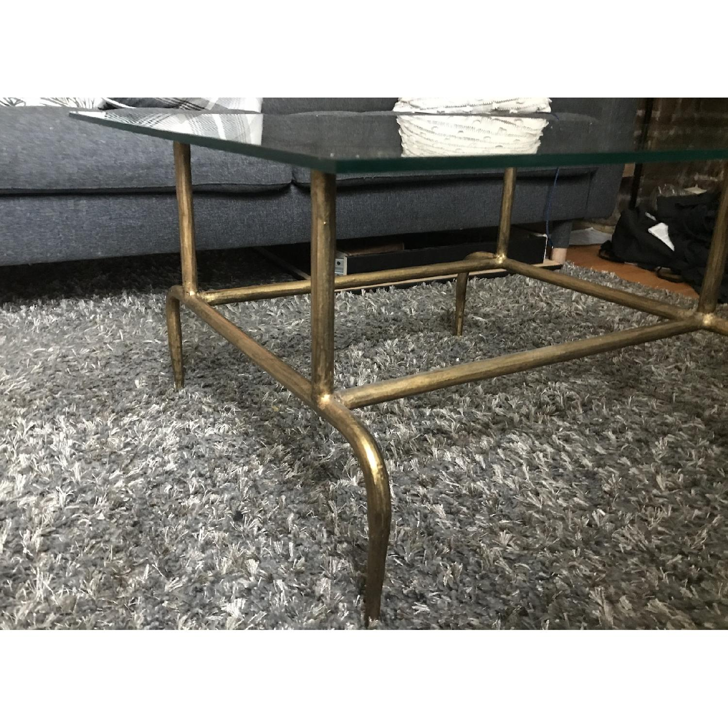 World Market Glass & Metal Square Lorea Coffee Table - image-4