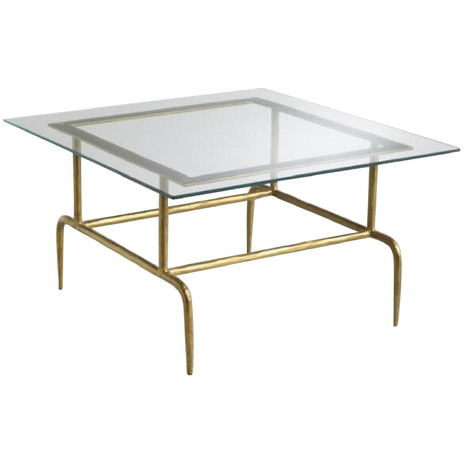 World Market Glass & Metal Square Lorea Coffee Table - image-0