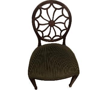 Upholstered Wood Desk Chair