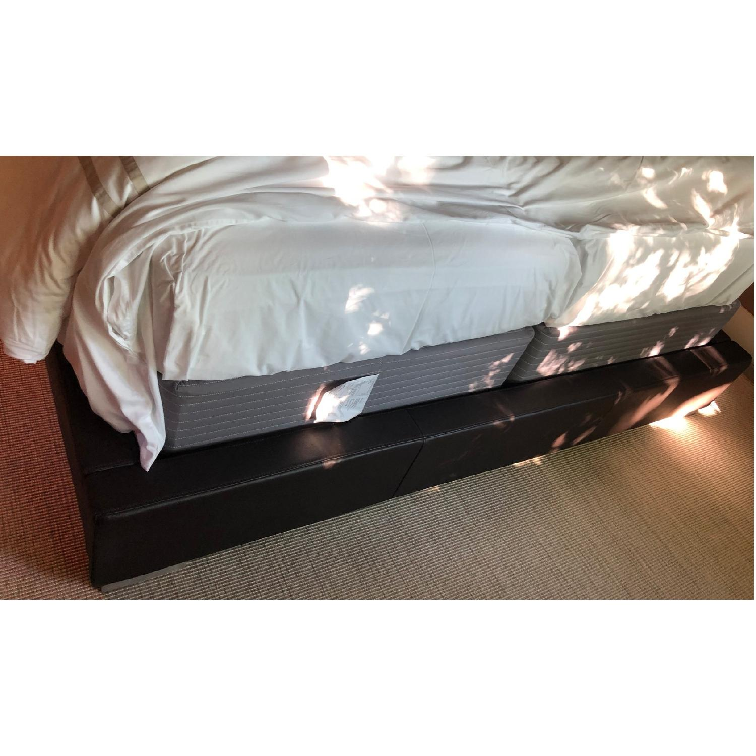 Brown Leather Tufted Queen Size Bed-5