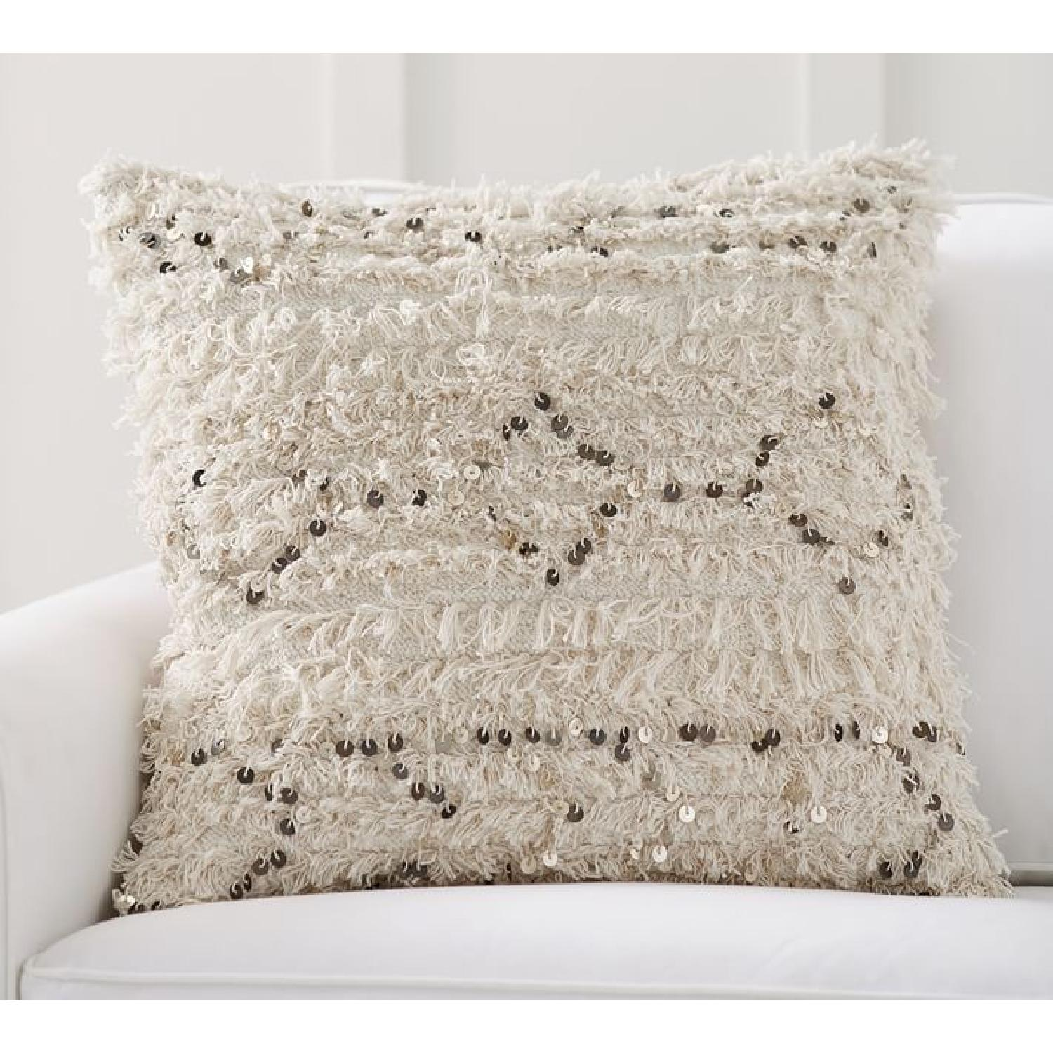 Pottery Barn Moroccan Wedding Pillow Covers w/ Sham Inserts - image-5