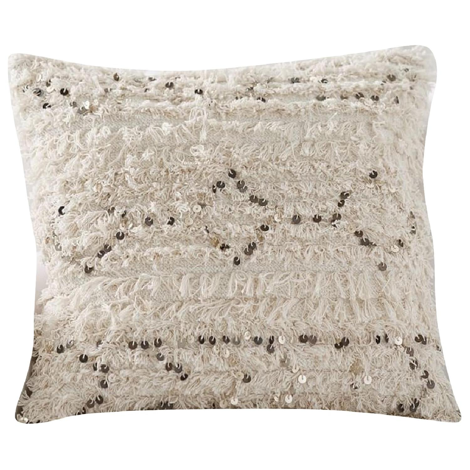 Pottery Barn Moroccan Wedding Pillow Covers w/ Sham Inserts - image-0