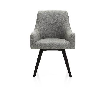 Crate & Barrel Harvey Grey Armchairs