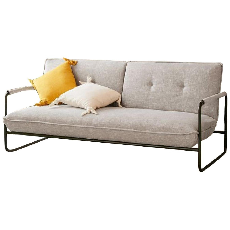 Urban Outfitters Grey Sleeper Sofa Aptdeco