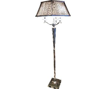 Silver Lamp w/ Black Shade