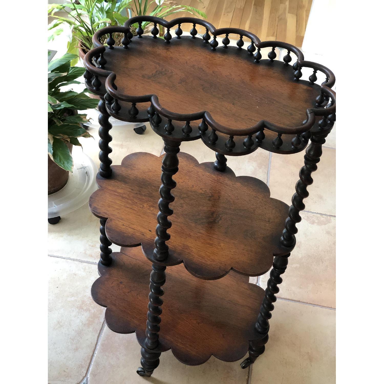 Vintage Mahogany Triple Shelf - image-1