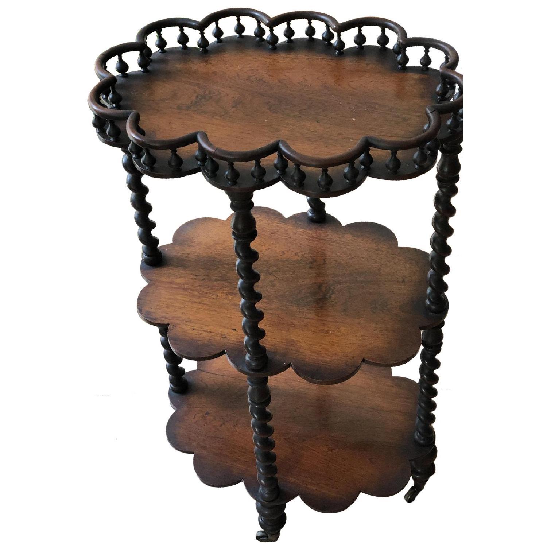 Vintage Mahogany Triple Shelf - image-0