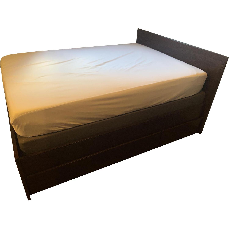 Ikea Brusali Full Bed Frame w/ 2 Storage Bins