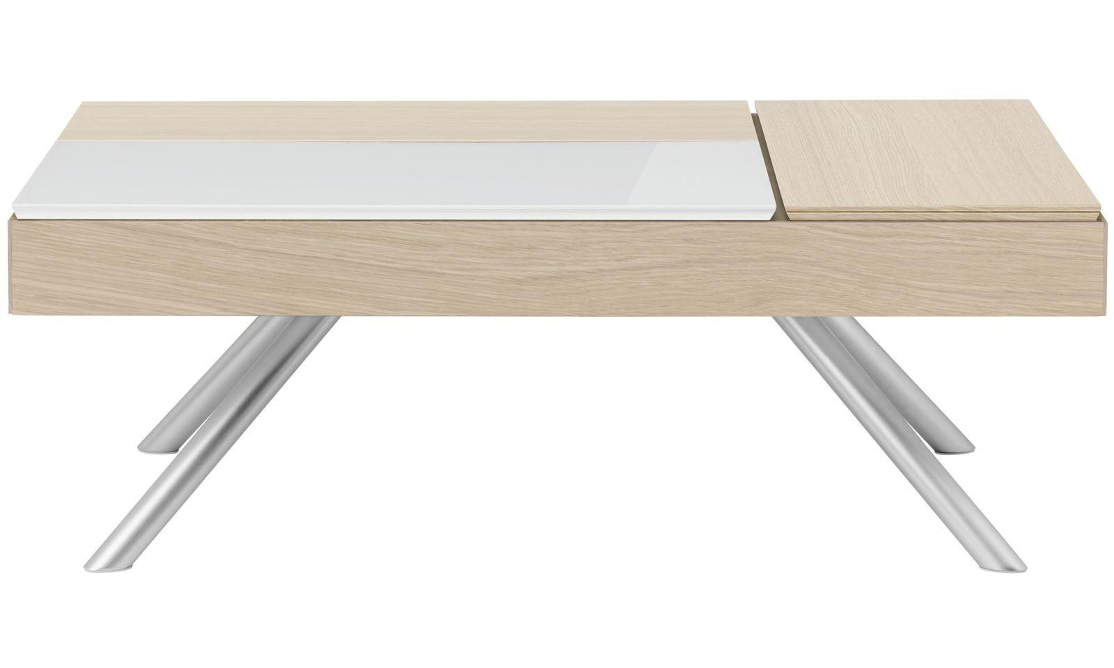 BoConcept Chiva Modern Pop Up Hidden Storage Coffee Table