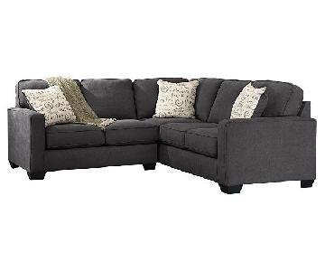 Ashley Alenya Grey Fabric 2-Piece Sectional Sofa