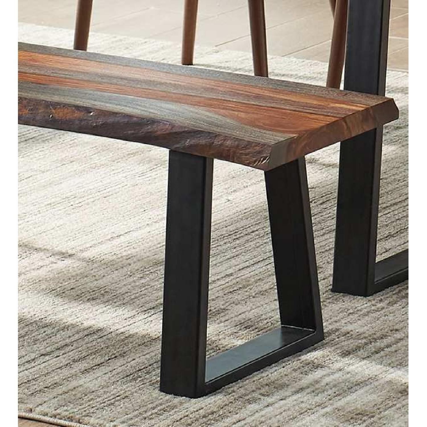Picture of: Modern Bench W Solid Wood Live Edge Seat Metal Legs Aptdeco