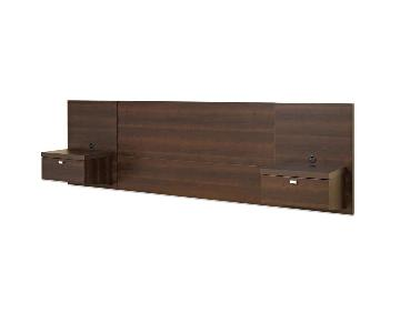 Prepac Espresso Floating Queen Headboard