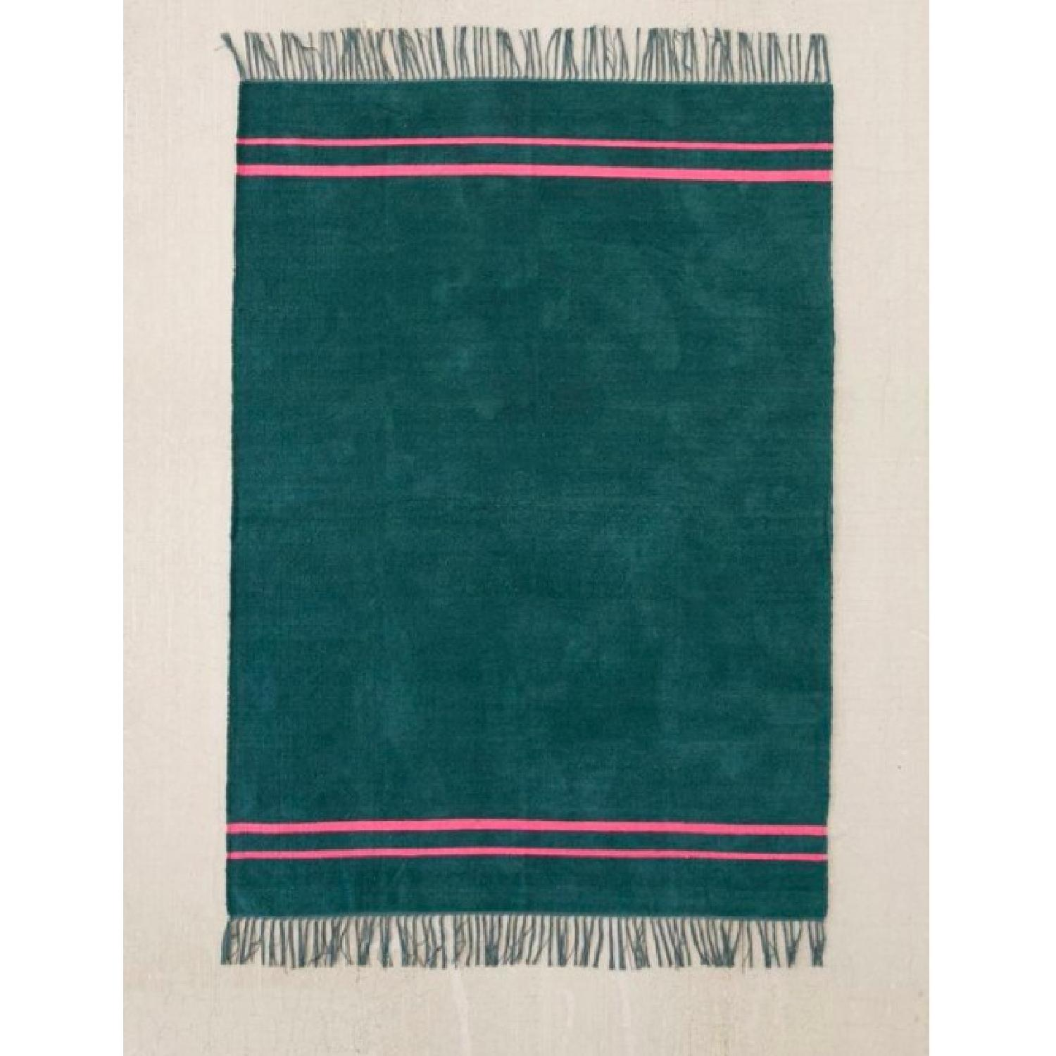 Urban Outfitters Luna Green Chenille Stripe Rug - image-1