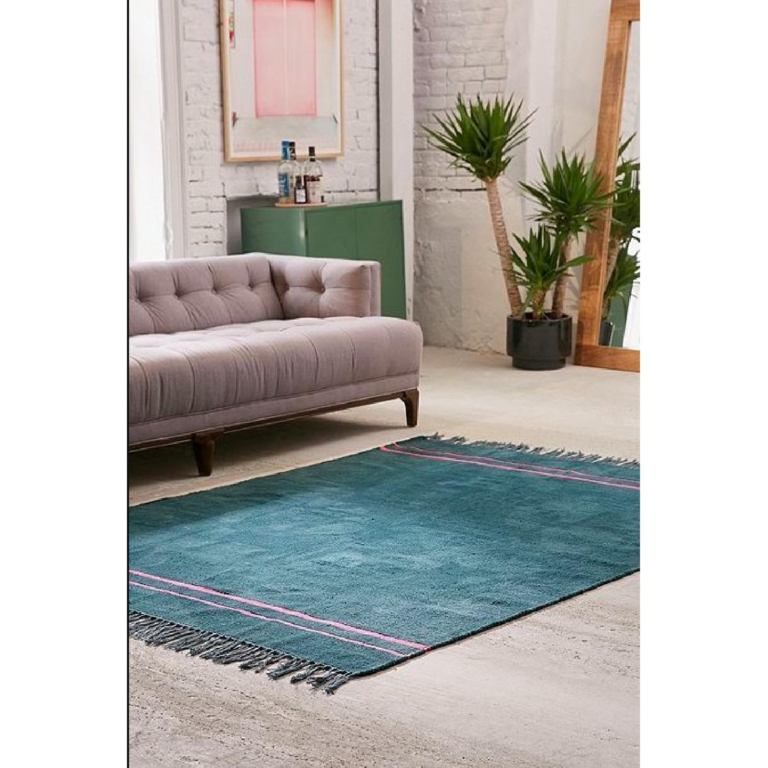 Urban Outfitters Luna Green Chenille Stripe Rug - image-2