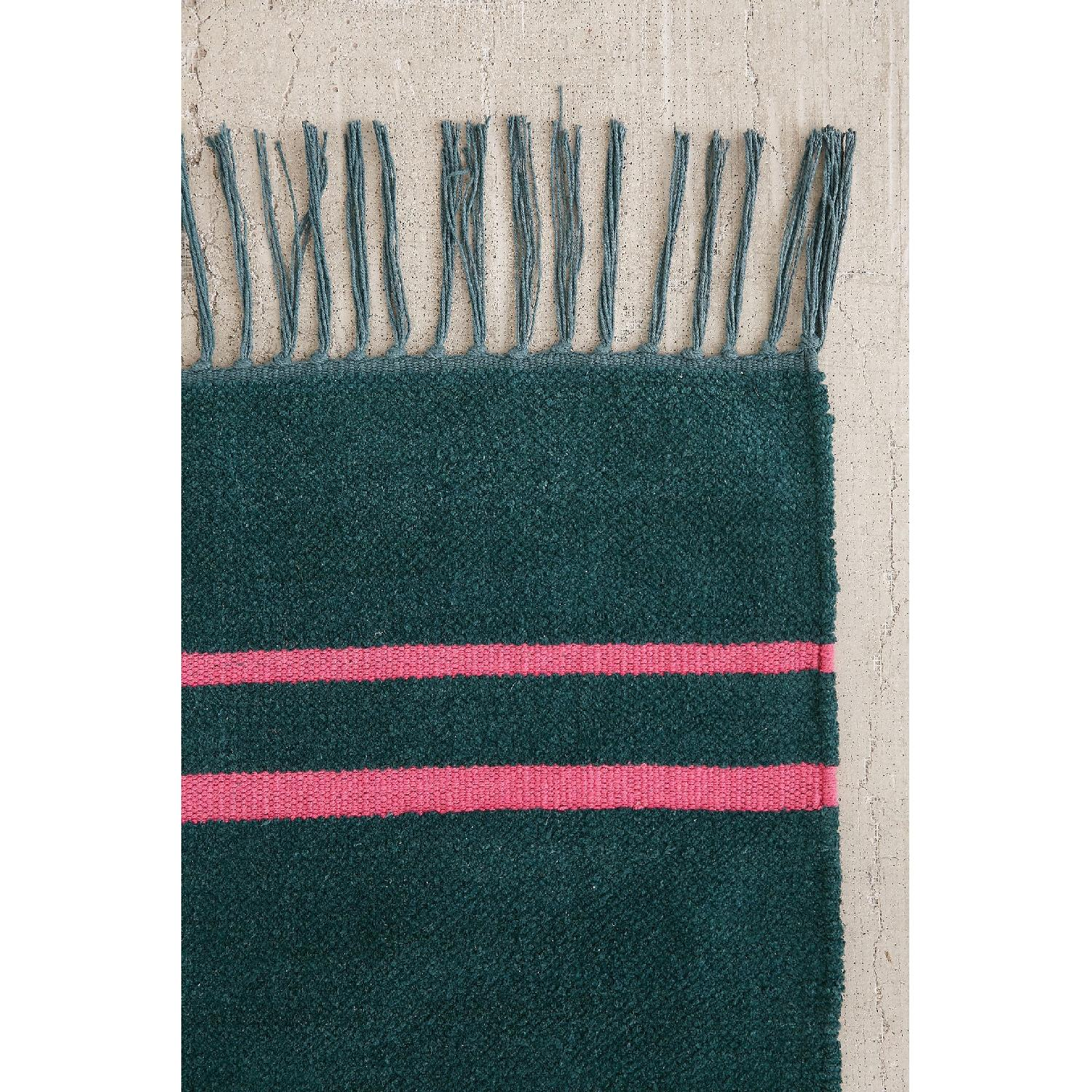 Urban Outfitters Luna Green Chenille Stripe Rug - image-3