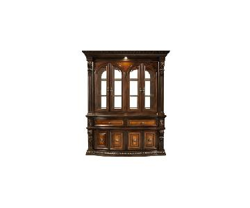 Raymour & Flanigan Bellanest 2-Piece Lighted China Cabinet