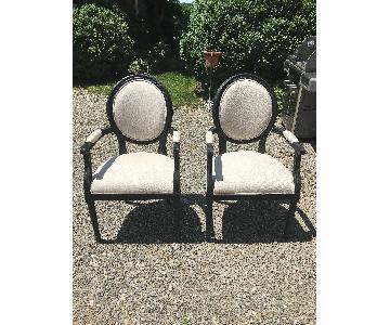Restoration Hardware Vintage Fabric Dining Chairs